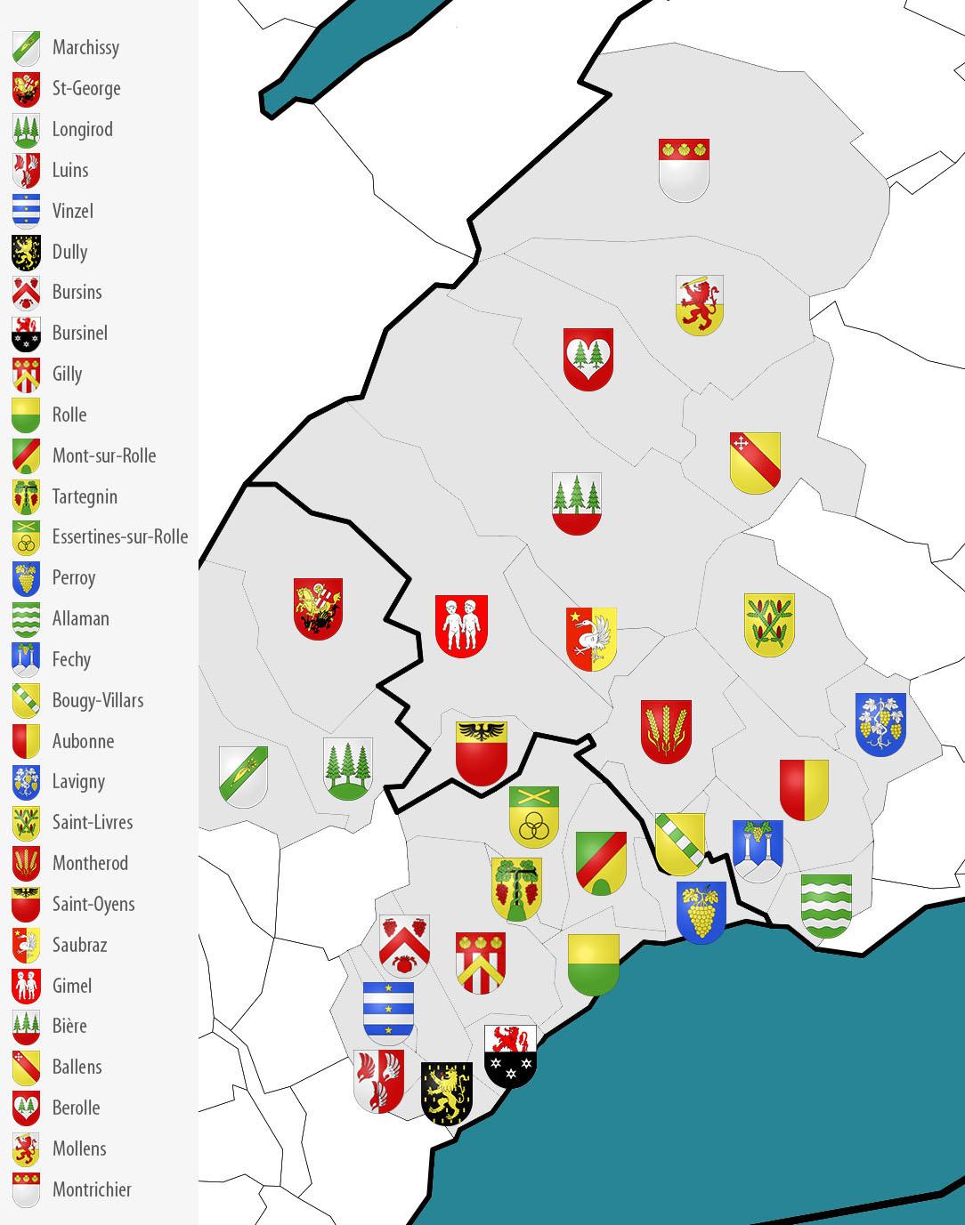 Mise en page : Carte des communes